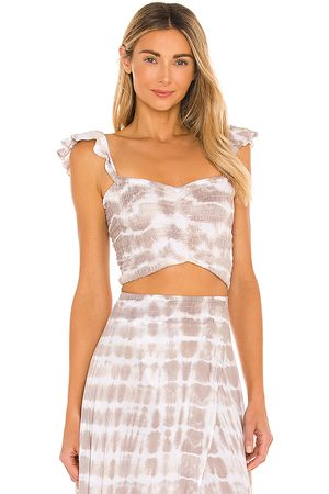 TIARE HAWAII Hollie Top in Taupe, .