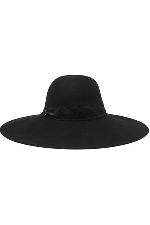 EUGENIA KIM Women Hats - Woman Bunny Lace-trimmed Wool-felt Hat Size ONESIZE