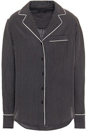 RAG&BONE Women Long sleeves - Woman Luca Pinstriped Washed-silk Shirt Size L