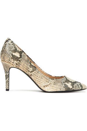 DKNY Women Pumps - Woman Randi Glossed Snake-effect Leather Pumps Animal Print Size 10