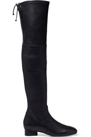Stuart Weitzman Women Thigh High Boots - Woman Lorene 30 Stretch-leather Over-the-knee Boots Size 10