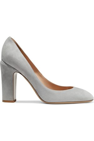 VALENTINO GARAVANI Women Pumps - Woman Tango Suede Pumps Stone Size 35
