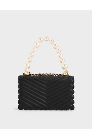 CHARLES & KEITH Women Clutches - Beaded Handle Crossbody Bag