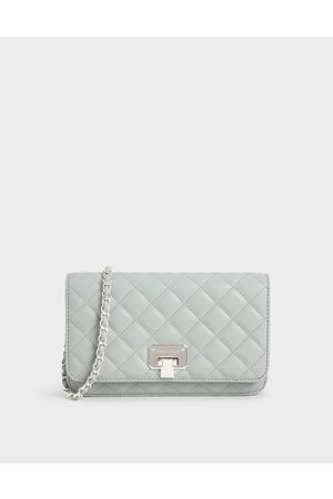 CHARLES & KEITH Quilted Flip-Lock Clutch