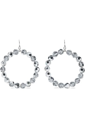 CHAN LUU Woman Sterling Crystal Hoop Earrings Size