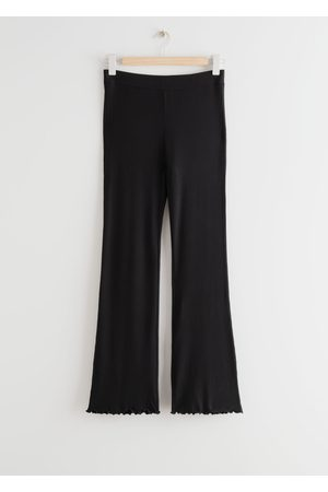 & OTHER STORIES Women High Waisted - High Waist Lettuce Edge Trousers