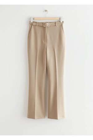 & OTHER STORIES Belted Cropped Kick Flare Trousers