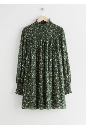 & OTHER STORIES Women Party Dresses - Sheer Smocked Mini Dress