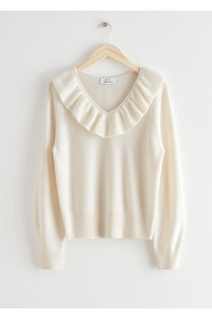 & OTHER STORIES Ruffle Collar Wool Knit Sweater