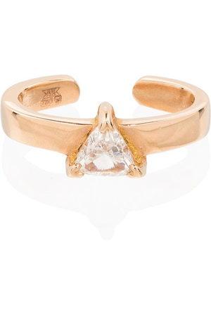Anita Women Earrings - 18kt rose gold Trillion diamond ear cuff