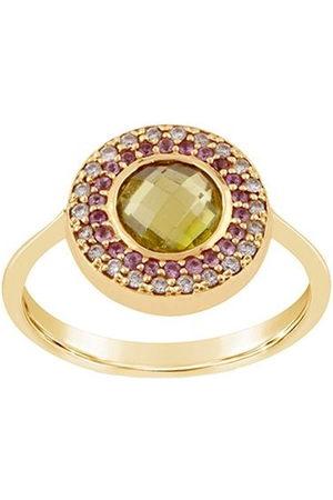 Dinny Hall 14kt yellow diamond Double Halo pinky ring