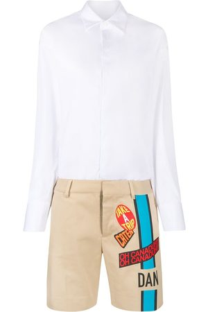 Dsquared2 Printed shorts and shirt playsuit
