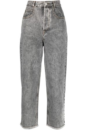 Isabel Marant Cropped wide-leg jeans - Grey