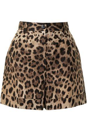 Dolce & Gabbana Leopard-print tailored shorts