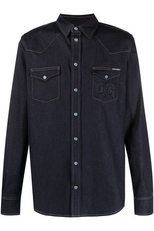 Dolce & Gabbana Contrast-stitching denim shirt
