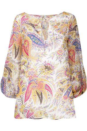 Etro Paisley print blouse - Neutrals