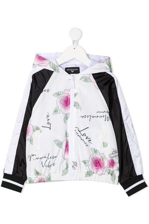 MONNALISA Rose-print rain jacket