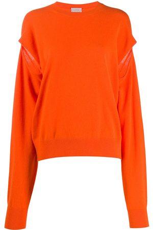 MRZ Slit-sleeve knit jumper