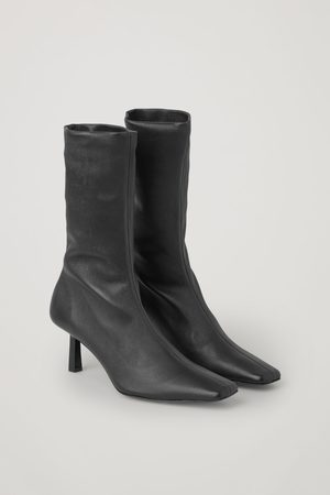COS LEATHER SOCK ANKLE BOOTS