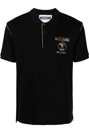 Moschino Contrast-trim logo polo shirt