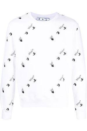 OFF-WHITE Men Sweatshirts - All-over logo cotton sweatshirt