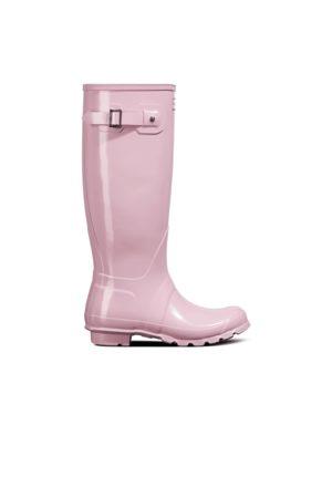 Hunter Women Thigh High Boots - Women's Original Tall Gloss Rain Boots
