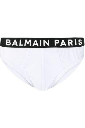 Balmain Contrasting logo waistband briefs