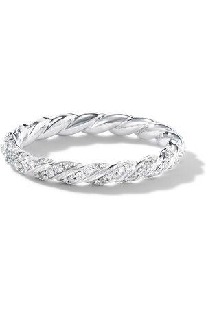David Yurman Women Rings - 2.7mm 18kt white gold petite Paveflex diamond ring