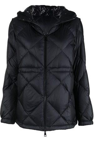 Moncler Diamond-quilt zip-up puffer jacket