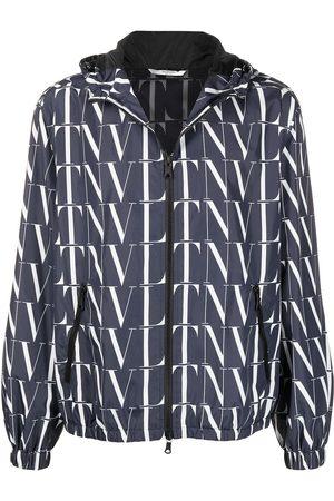 VALENTINO VLTN zip-up hooded jacket