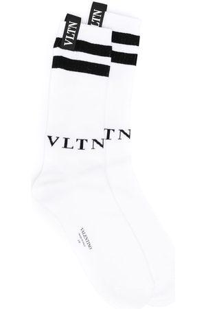 VALENTINO Stripe-pattern ankle socks