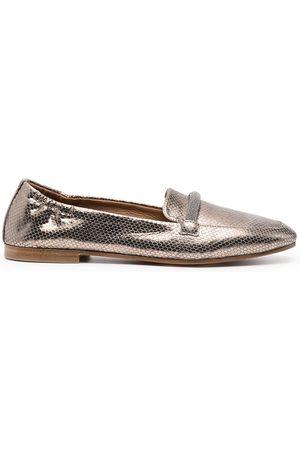Brunello Cucinelli Women Loafers - Metallic-effect loafers