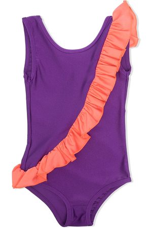 WAUW CAPOW by BANGBANG Girls Swimsuits - India contrast ruffle swimsuit