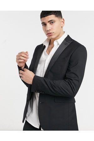 Devils Advocate Skinny fit tuxedo suit jacket