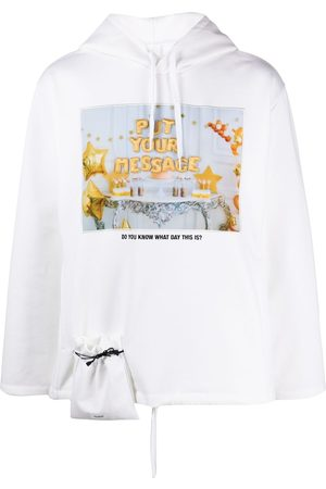 DOUBLET Embroidered photo-print hoodie