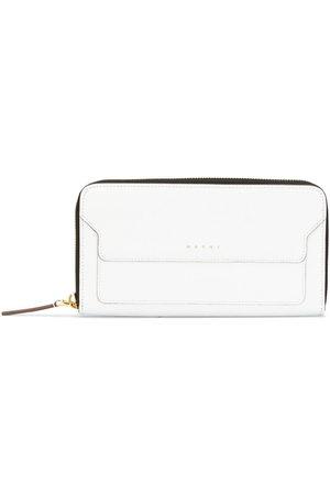 Marni Logo embossed zip-around purse