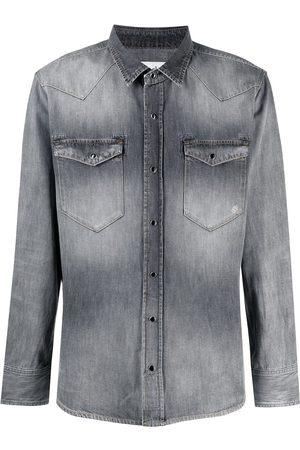 ELEVENTY Stonewash denim shirt - Grey