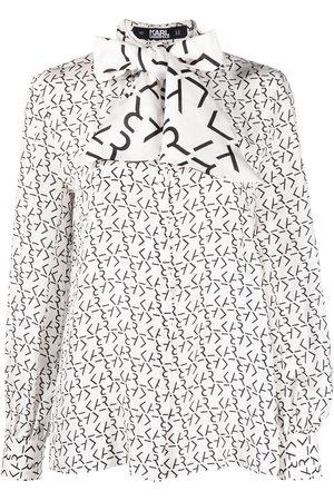 Karl Lagerfeld Monogram print shirt