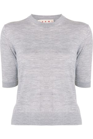 Marni Side-stripe knitted top - Grey