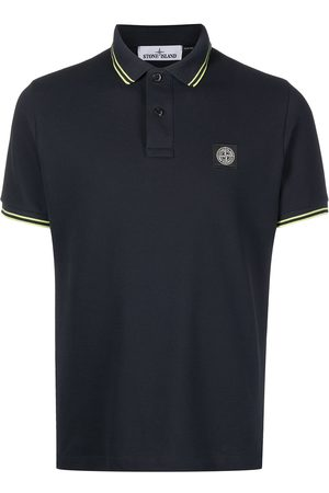 Stone Island Logo patch polo shirt