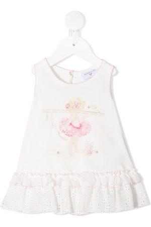 MONNALISA Ballerina-print jersey dress