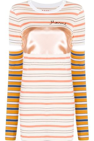 Marni Women Short Sleeve - Striped short-sleeve T-shirt
