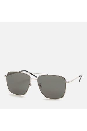 Saint Laurent Men's Sl 376 Slim Metal Aviator Sunglasses
