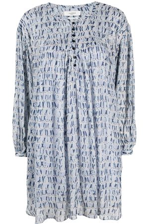 Isabel Marant Printed long-sleeved midi dress