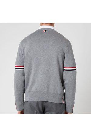 Thom Browne Men Sweaters - Men's Tricolour Stripe Crewneck Jumper