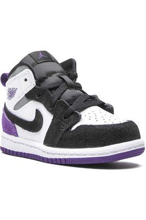"""Jordan Kids Air Jordan 1 Mid SE """"Purple Suede"""" sneakers"""