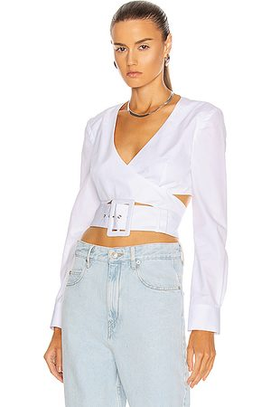 Rosie Assoulin Women Crop Tops - Wrapped Belted Crop Top in