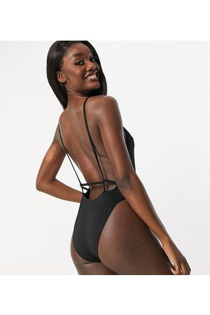 ASOS Women Swimsuits - ASOS DESIGN Tall recycled twist strappy low back swimsuit in