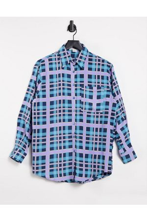 Glamorous Relaxed shirt set in plaid