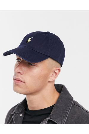 Polo Ralph Lauren Baseball cap with white player logo in washed navy-Blues